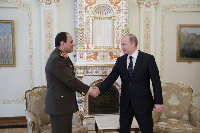 Vladimir Poutine et Abdel Fattah Al-Sisi