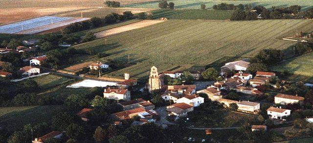 Lannes ( Lot-et-Garonne) - Vue d'ULM
