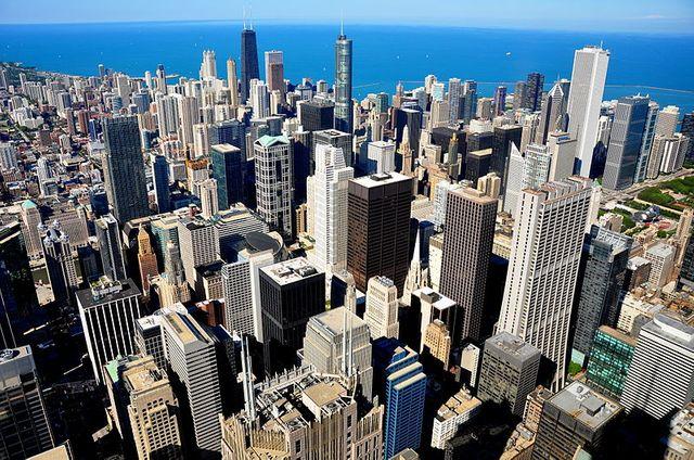 Chicago vue du ciel