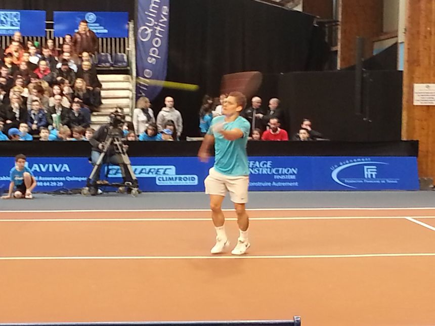 Vincent Millot, finaliste de l'Open de tennis de Quimper