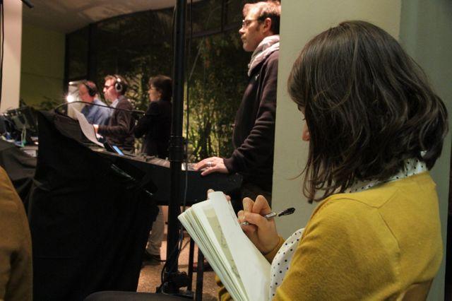 Amélie Fontaine dessine pendant le direct