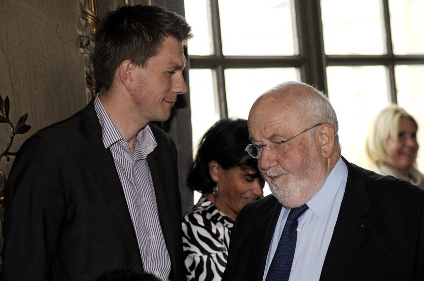 Mathieu Klein, candidat aux élections municipales à Nancy. Lors de la 35ème édition du Livre sur la Place, le 13 septembre 2013.