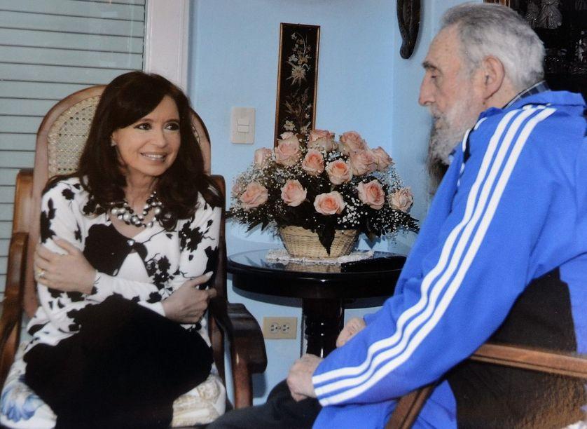 Cristina Fernandez de Kirchner & Fidel Castro le 24 janvier 2014