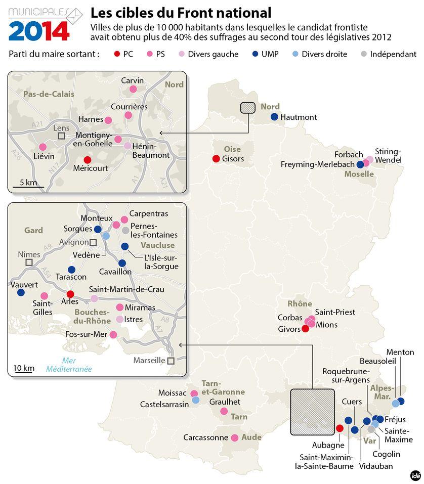 Municipales 2014 : les cibles du Front national