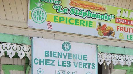 Olivier supporter de l'ASSE à la Réunion