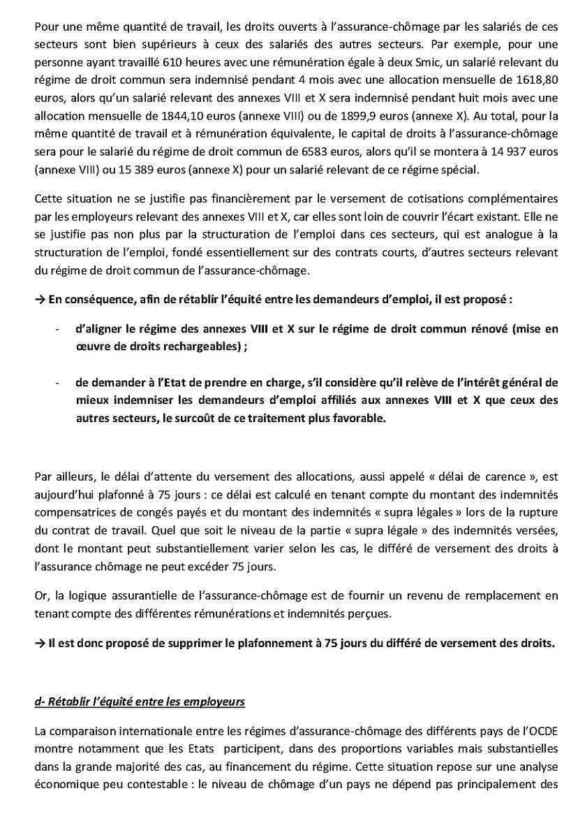 La proposition qui fait débat : extraite du document de travail transmis aux syndicats par le Medef