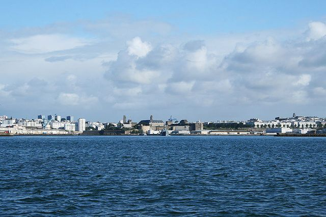 Brest (Finistère) - Vue de la rade