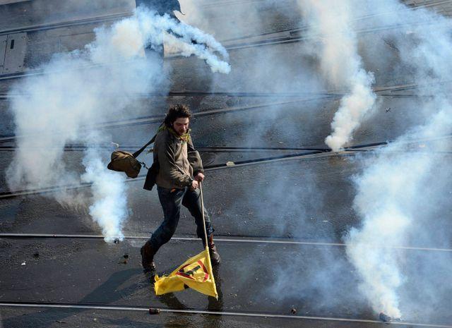 Manifestants à Nantes