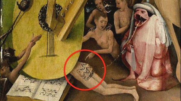 Les fesses de l'enfer : une partition cachée dans une toile de Bosch