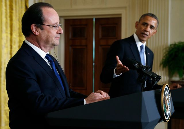 Barack Obama et François Hollande