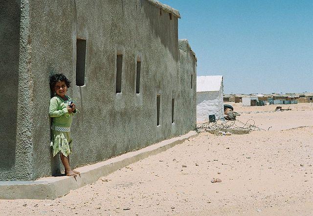 Dans un camp de réfugiés sahraouis
