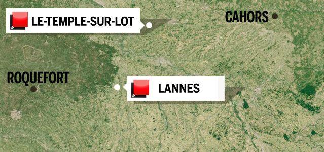Carte du jeu des 1000 euros - Lot et Garonne