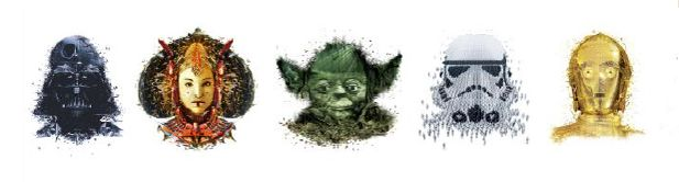 Star Wars identities frise