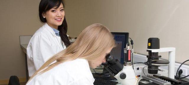 jeunes femmes dans un laboratoire