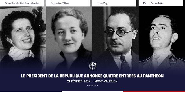 """Les quatre """"panthéonisés"""