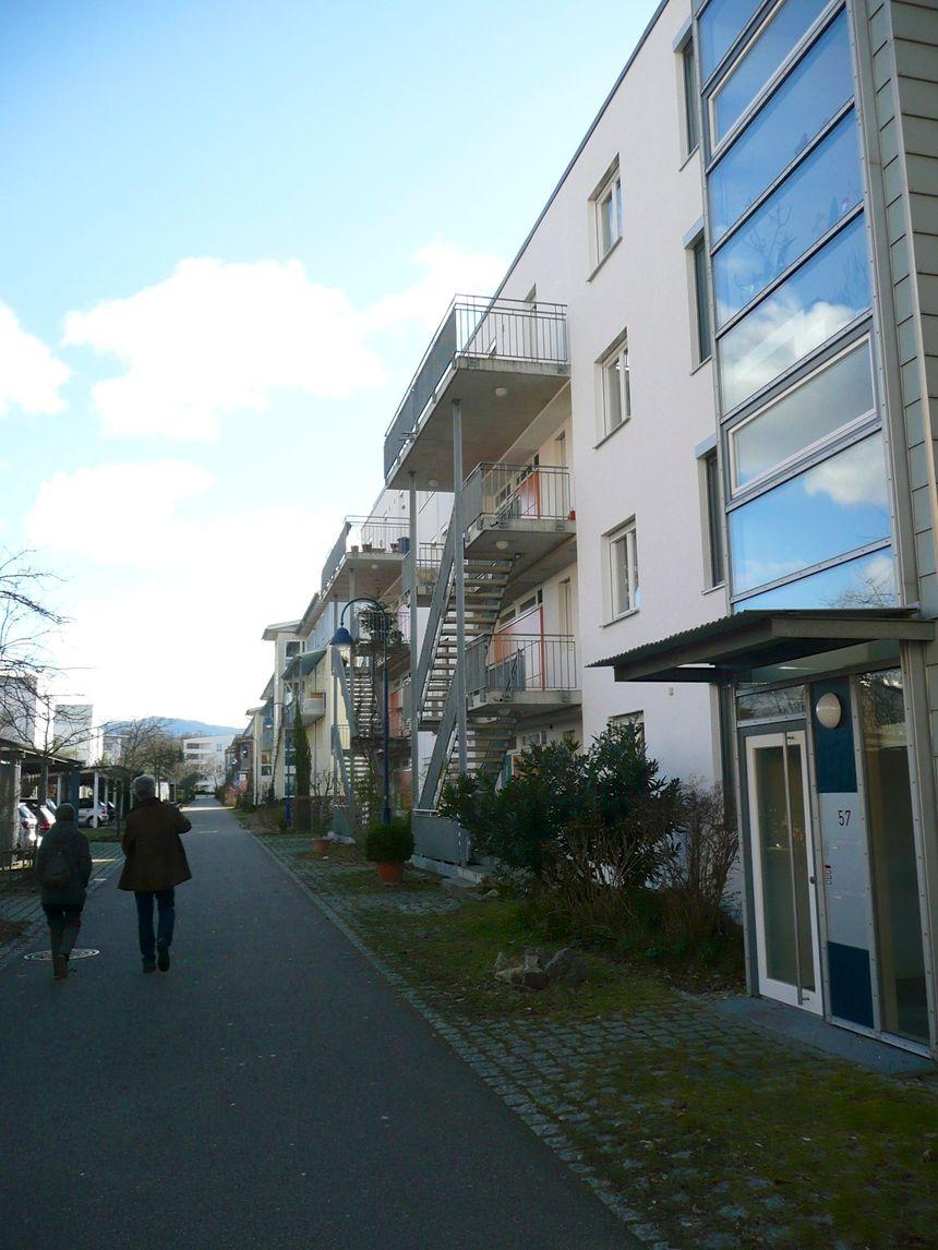 Une rue de Rieselfeld