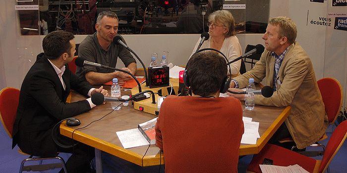 (de gauche à dte) François Purseigle, Laurent Pinatel, Marie-Gabrielle Miossec et Luc Smessaert