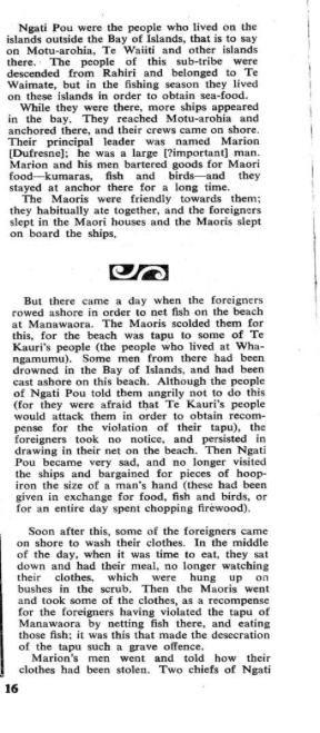 Témoignages Maori recueillis en 1830 par John White 1/2