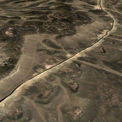 Le mur de sable (vue aérienne)