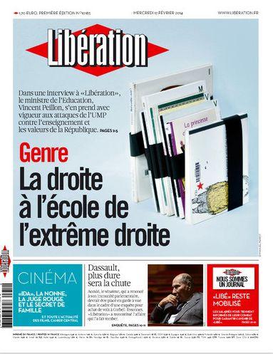 Une de Libération 12.02.2014
