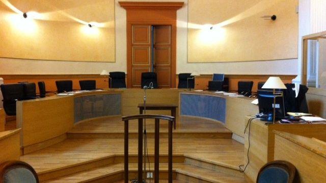 La salle d'audience du palais de Justice de Privas, mars 2014.