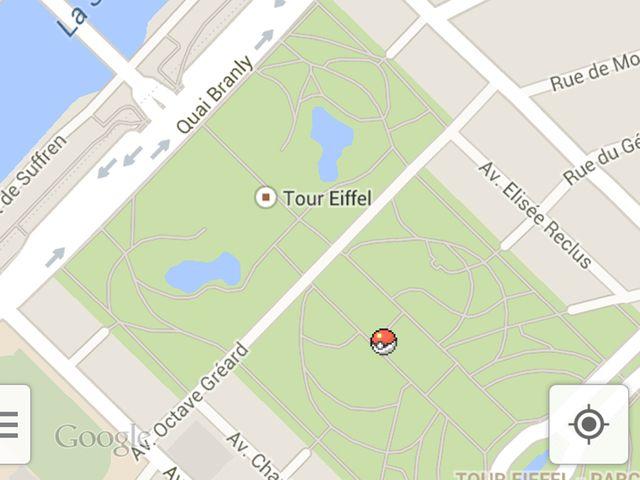 Des Pokémon dans Google Maps