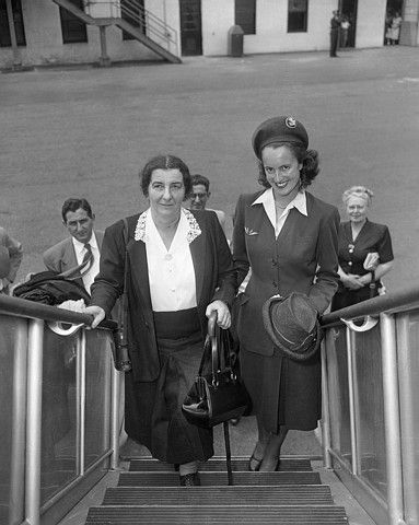 Hotesse de l'air d'Air France 1948
