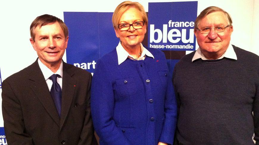Les candidats à Alençon. De g. à d. : Joaquim Pueyo (PS), Christine Roimier (UDI-UMP) et François Tollot (Front de Gauche).