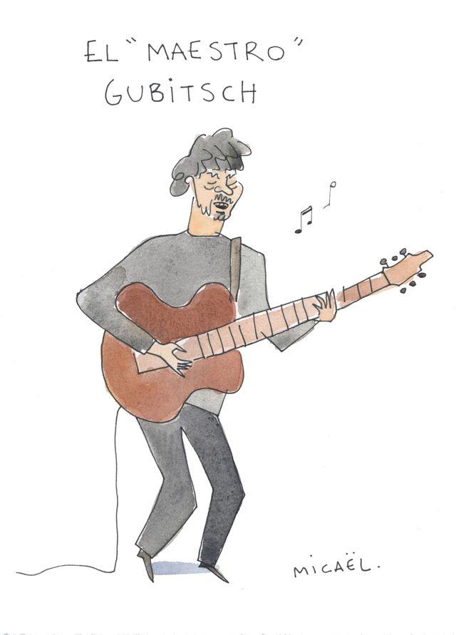 Tomàs Gubitsch croqué par Micaël.