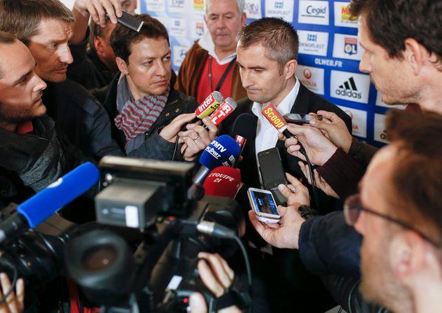 L'arbitre Fredy Fautrel après le match Lyon Monaco