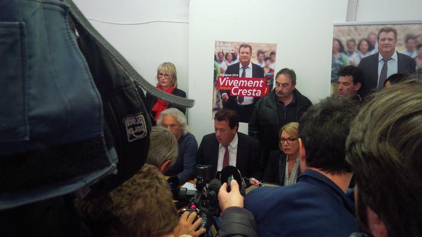Jacques Cresta lors de la conférence de presse à sa permanence
