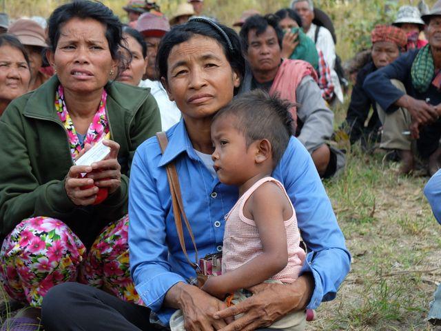 Hoy Maï, figure de la contestation. se bat depuis 2009 pour récupérer ses 20 hectares de terre
