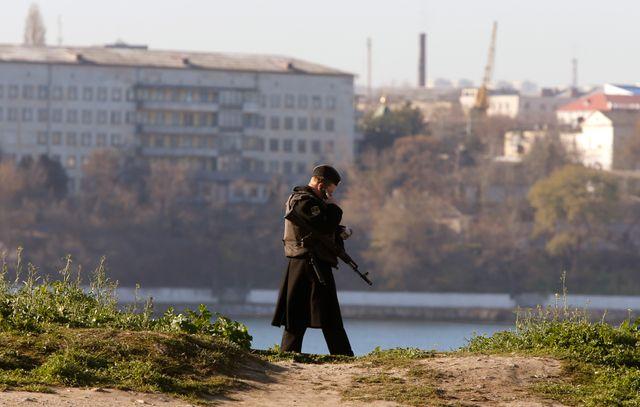 Un soldat russe en Crimée