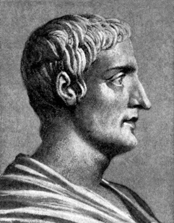Portrait fictif de Tacite du début du XXème siècle