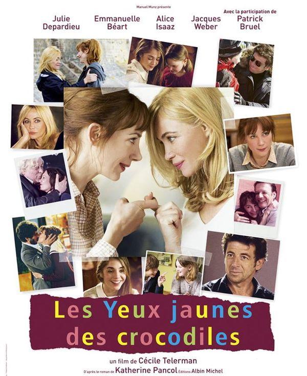 « Les yeux jaunes des crocodiles » un film de Cécile Télerman, avec Julie Depardieu, Emmanuelle Béart, Patrick Bruel