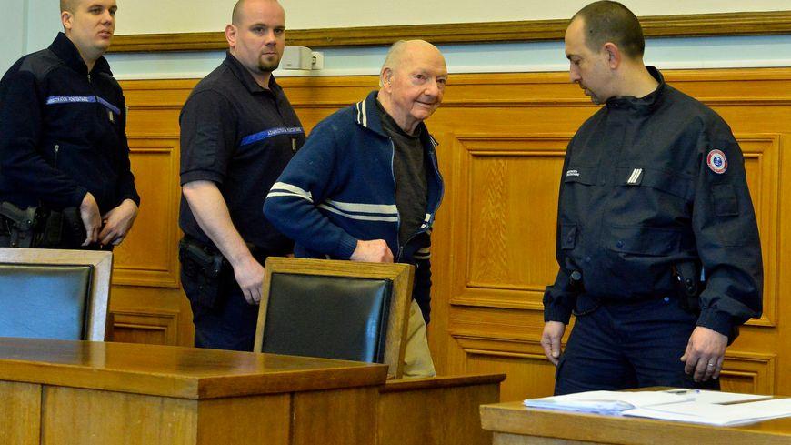 Marcel Guillot à son procès à Reims