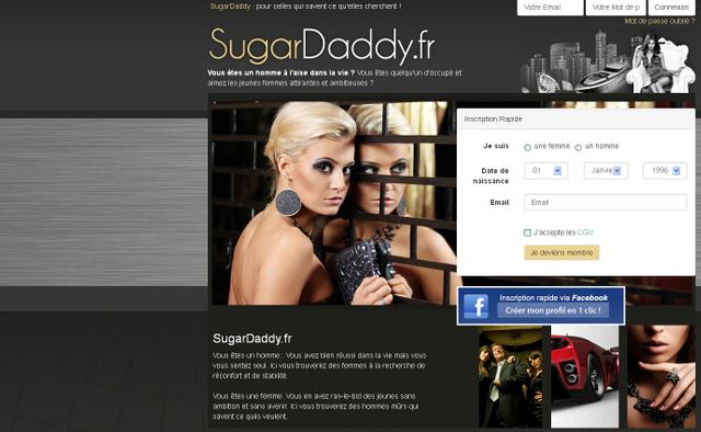 Impression écran Sugardaddy