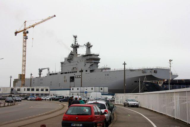 """Le """"Vladivostok"""", commandé par la Russie aux chantiers STX de Saint-Nazaire"""
