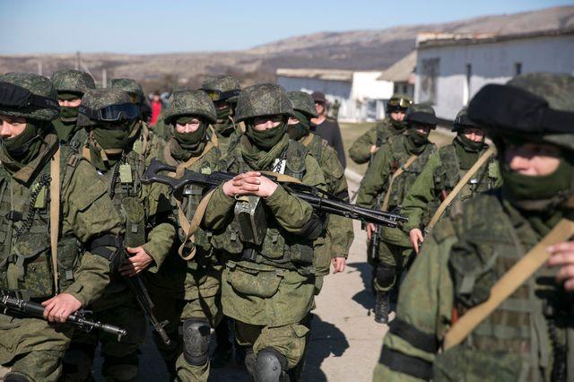 Les troupes russes en Crimée