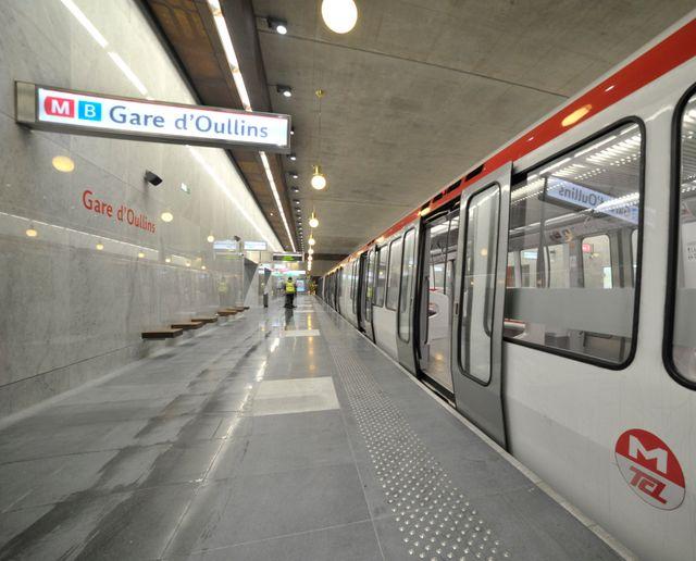 La station de métro d'Oullins