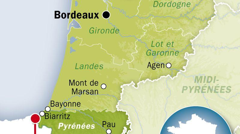 Carte de localisation de Saint-Jean-de-Luz