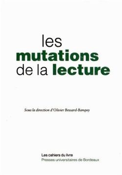 Les mutations de la lecture