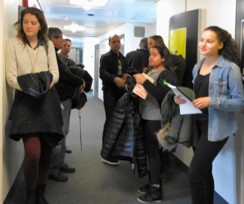 Arrivée des jeunes poètes ce mercredi dans nos locaux à France Culture