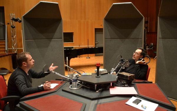 Vincent Warnier et Renaud Machart au studio 118 de la Maison de Radio France © Flora Sternadel