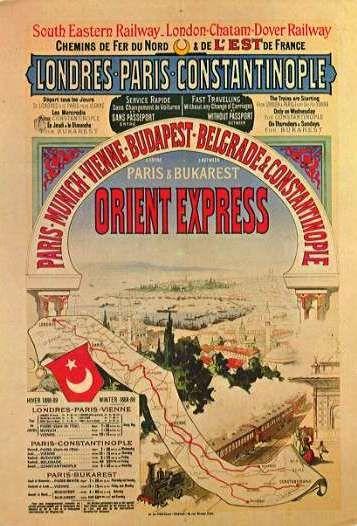 Affiche publicitaire de l'Orient-Express