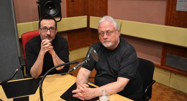 Renaud Machart et William Bolcom au studio 119 de la Maison de Radio France © Flora Sternadel