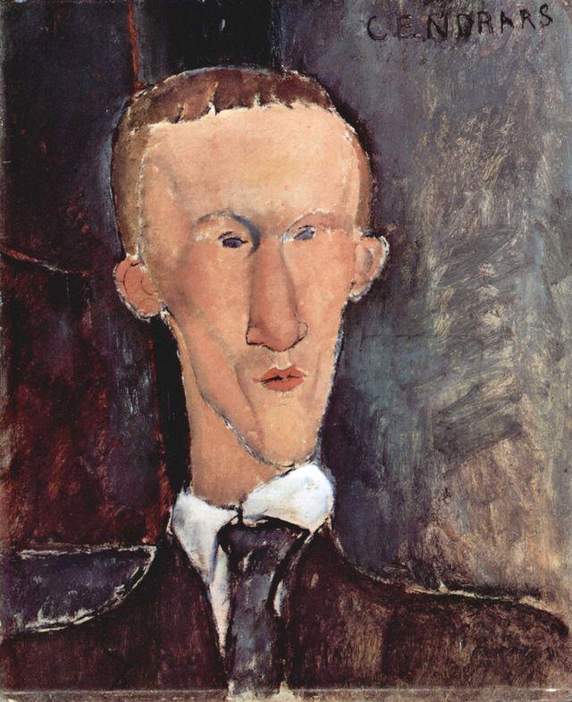 Portrait de Blaise Cendrars par Amedeo Modigliani - 1918