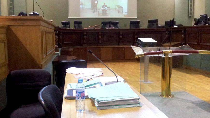 Salle d'audience au tribunal de Bordeaux.