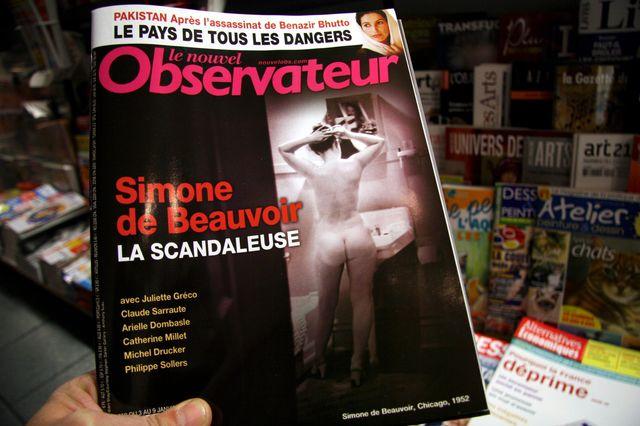 Simone de Beauvoir en une du Nouvel Obs