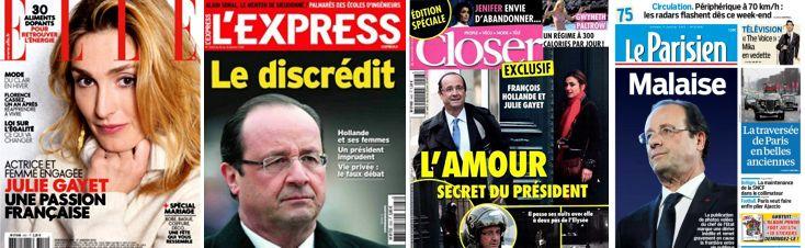 Unes presse Hollande-Gayet
